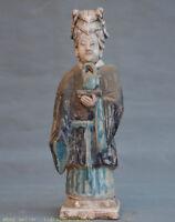 """12 """"Statue de palais de la dynastie des poteries Sancai Chine ancienne"""