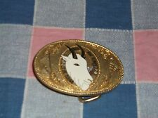e1.. Belt Buckle  1989 Fur Rendezvous Anchorage Alaska