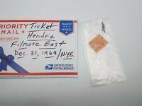 JIMI HENDRIX RARE CONCERT TICKET FILLMORE EAST NY DEC 31ST 1969 Ticket