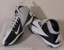 NEW Nike Air Vapor Pro 3/4 Mid Destroyer Mens Turf Shoes 18 White/Navy MSRP$100