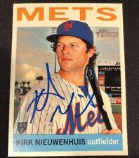 Kirk Nieuwenhuis Mets 2013 Signed Auto Autographed Topps Heritage Card #61 ~ COA