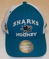 NHL San Jose Sharks Adjustable Strap Youth Hat By Reebok - Youth 4-7 yrs. New