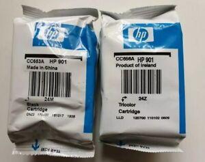 HP 901  Black & Tri-Colour Ink Cartridges CC653A, CC656A HP901 - Genuine!