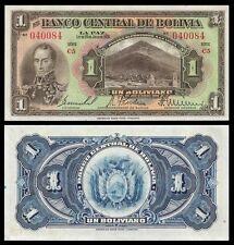Bolivia 1 BOLIVIANO L.1928 Serie  C5 P 118 UNC