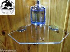 Bathroom Shower Wall Corner Clear Acrylyc Plexi-glass Floating Shelf 7.5X7.5 In