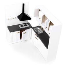 1:12 Wooden Kitchen Set Dollhouse Furniture Accessories Kid White Toy Gift