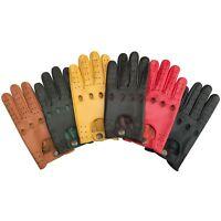 Prime Genuine soft cow Nappa leather Mens Driving Winter Retro Gloves 513 New