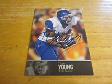 Titus Young Signed 2011 Upper Deck College Legends Autographs #93 Card NFL Lions