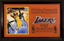 Framed Kobe Bryant LAKERS 8x10 on a Basketball Mat Laser Cut Deluxe 14x22 NBA
