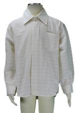 Jacadi Jungen Cibler Natürlich & Weiß Gestreift Geknöpft Hemd Größe 6 Jahre Nwt