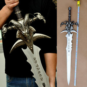 """46"""" WOW World of warcraft Lich King grief of frost Cosplay Stainless steel #0073"""