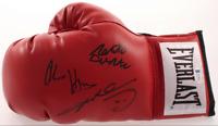 Sugar Ray Leonard Roberto Duran Hearns Signed Boxing Glove Beckett BAS Witnessed