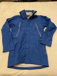 Mountain Designs 'Melaleuca' Blue Waterproof Jacket with Hood ~ Size M