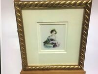 19th Century Continental School...Girl with Grapes...Watercolour