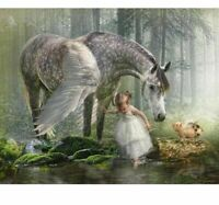 Diamond Painting DIY Horse And Little Girl Design Embroidery House Wall Displays