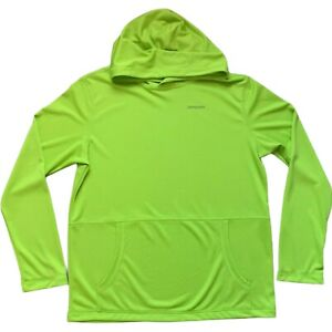 Patagonia Hooded Pullover Long Sleeve Top Mens Small Boys 16-18/XXL  Neon Green