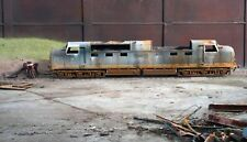 OO gauge scrapyard Class 55 Deltic diesel loco, heavily rusted and weathered.