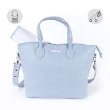 PASITO A PASITO ATELIER CHANGING BAG IN BLUE WITH CHANGING MATT BN