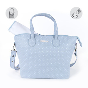 CHANGING BAG - PASITO A PASITO ATELIER IN BLUE WITH CHANGING MATT BN