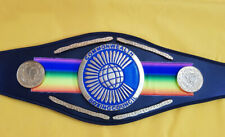 More details for commonwealth title boxing belt leather belt replica adult size