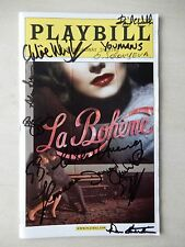 March 2003 - Broadway Theatre Playbill w/12 Autographs - La Boheme