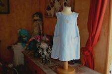 robe tartine et chocolat doublee 3 ans bleu clair poche PORT GRATUIT