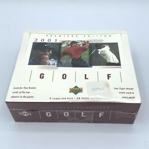 2001 Upper Deck Golf Premier Edition Box Tiger Woods RC Factory Sealed