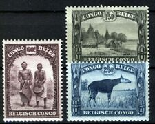 Belgish Congo 1931-1937, 3 values to 2,5Fr VF MNH