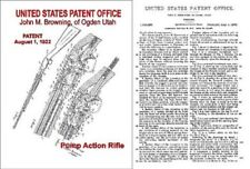 Browning 1922 Pump .22 Rifle Patent Description and Drawings