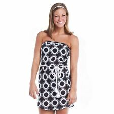 fafbe2addca52 Mud Pie Swim Cover Up- Allison Strapless Black Honeycomb Size Small