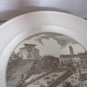Wedgwood Edme Plate Piranesi Rome Dinner England Vintage Queensware Scenes View