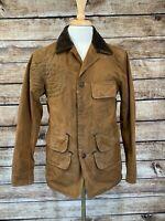 Polo Ralph Lauren Waxed Jacket Trucker Size S Brown Blanket Liner