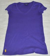 Ralph Lauren sport Women Size S Short Sleeve Sport V-neck Top Shirt in Purple