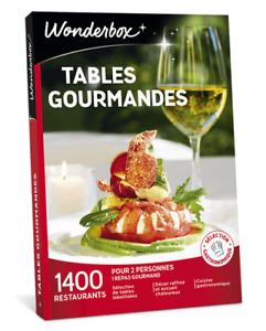 Coffret WONDERBOX  Tables gourmandes ( E-COFFRET  = dématérialisé )