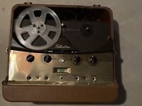Silvertone Deluxe Tape Recorder Reel To Reel Model 6074 Untested As Is