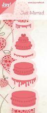 Joy Crafts troquelado & Plantilla de grabación en relieve-Just Married-Pastel - 6002/0429 *