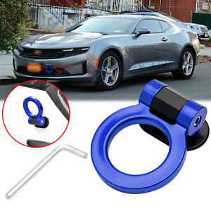 For Chevy Camaro Bumper Blue Racing Track Style Dummy Tow Hook Ring Look Decor