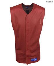 New Mizuno Mens Cardinal Polyester Mesh Sleeveless Baseball Jersey Size- XL