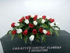 Deluxe  Memorial Cemetery Flower Headstone/Tombstone Saddle Grave  Decoration