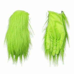 Grinch Plush Glove Christmas Halloween Deluxe Xmas Party Cosplay Costume Prop