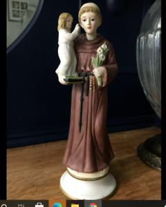 "ST SAINT ANTHONY OF PADUA BABY JESUS STATUE JESUS 8"" RESIN FIGURINE GIFT"