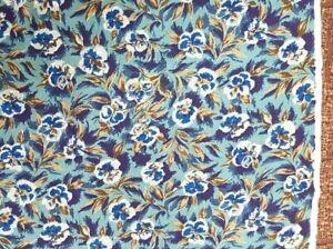 Vintage 1940s / 50s Fabric, Courtelle Traveller, by Courtaulds