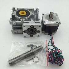 NEMA23 Gearbox Ratio 15:1 Stepper Motor 16.5Nm Worm Gear 3A Speed Reducer Kit