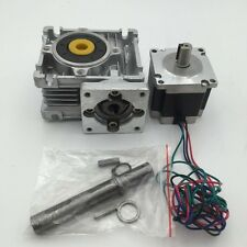 Nema23 16.5Nm Stepper Motor L56mm + 15:1 Worm Gearbox CNC Speed Reducer Set