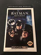 batman returns sega cd manual