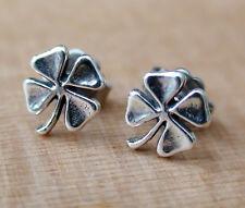 Four Leaf Clover Earrings - 925 Sterling Silver Post Earrings *NEW* Lucky Luck