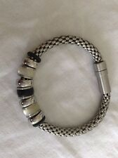 Teno Bracelet Stainless Steel Mother Pearl Cuff Bangle Italy