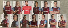 More details for 13 x west ham united womens home programmes 2020/21
