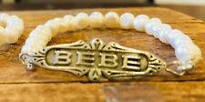 French Bebe Baby Bracelet Art Deco Antique Repro, new baby, sterling silver 925