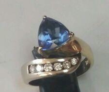 Beautiful 14K Two Tone Diamond and Topaz Ring!